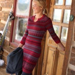 Athleta Nordic Fara Fair Isle Sweater Dress Fitted